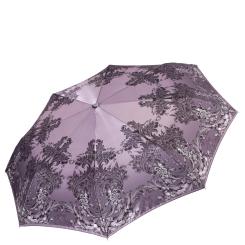 Сиреневый женский зонт автомат с красивым принтом на куполе от Fabretti, арт. L-17115-4