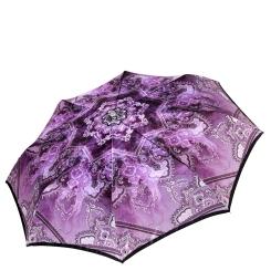 Сиреневый женский зонт автомат с красивым принтом на куполе от Fabretti, арт. L-17116-2