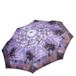 Женский легкий зонт автомат с красивым и стильным рисунком на куполе от Fabretti, арт. L-17117-10