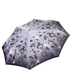 Женский легкий зонт автомат с красивым и стильным рисунком на куполе от Fabretti, арт. L-17117-4