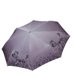 Стильный женский зонт автомат с красивым узором на куполе от Fabretti, арт. L-17118-1