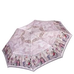 Легкий женский зонт автомат с красивым рисунком на куполе от Fabretti, арт. L-17119-1