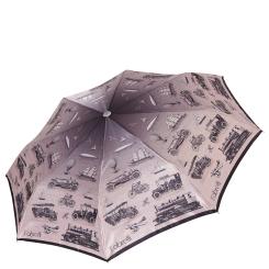 Сиреневый женский зонт автомат с красивым узором на куполе от Fabretti, арт. L-17120-2