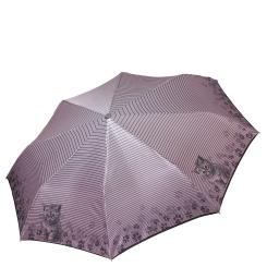 Сиреневый женский зонт автомат с красивым окаймлением купола от Fabretti, арт. L-17120-5