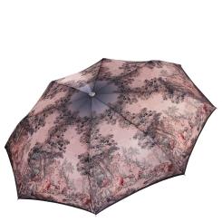 Бежевый женский зонт автомат с красивым узором на куполе от Fabretti, арт. L-17120-9