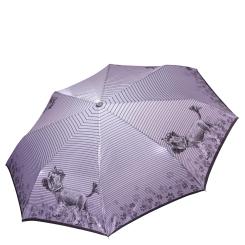 Легкий женский зонт автомат с куполом нежного сиреневого цвета от Fabretti, арт. L-17122-9