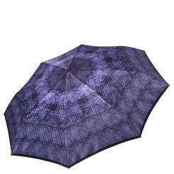 Женский легкий зонт автомат синего цвета с красивым узором от Fabretti, арт. S-17104-11