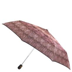 Женский зонт автомат коричневого цвета с красивым узором от Fabretti, арт. S-17105-11