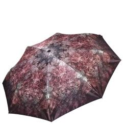 Женский зонт автомат шоколадного цвета с красивым узором от Fabretti, арт. S-17105-12