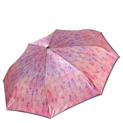 Стильный женский зонт автомат нежного розового цвета от Fabretti, арт. S-17105-6