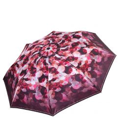 Стильный женский зонт автомат с красивым принтом на куполе от Fabretti, арт. S-17105-9