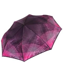Облегченный женский зонт автомат с геометрическим узором на куполе от Fabretti, арт. S-17106-6