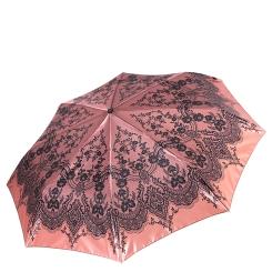 Женский легкий зонт автомат с красивым геометрическим узором от Fabretti, арт. S-17107-1