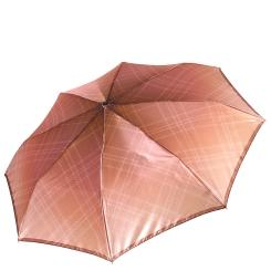 Женский легкий зонт автомат с ярким куполом оранжевого цвета от Fabretti, арт. S-17107-10