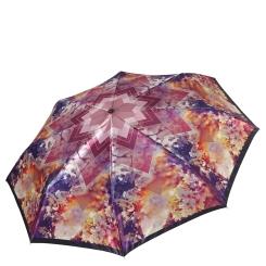 Женский легкий зонт автомат с красивым принтом на куполе от Fabretti, арт. S-17107-3