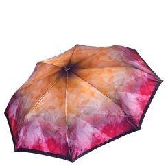 Женский легкий зонт автомат с ярким и стильным принтом на куполе от Fabretti, арт. S-17107-4