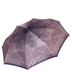 Женский легкий зонт автомат шоколадно-кофейного цвета от Fabretti, арт. S-17107-9
