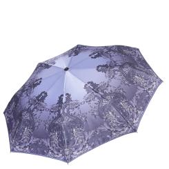 Элегантный и легкий женский зонт автомат с узором на куполе от Fabretti, арт. S-17108-11