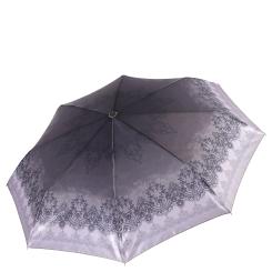 Сиреневый легкий женский зонт автомат с узором на куполе от Fabretti, арт. S-17109-12