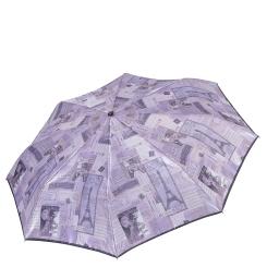 Светло-сиреневый женский зонт с облегченной конструкцией от Fabretti, арт. S-17110-1