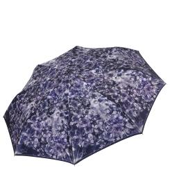 Сиреневый облегченный женский зонт с красивым принтом от Fabretti, арт. S-17110-11