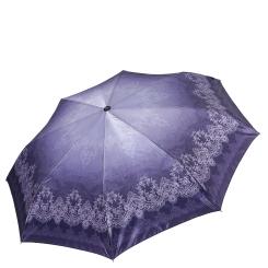 Легкий женский зонт сиреневого цвета с узором на куполе от Fabretti, арт. S-17110-4