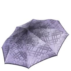 Легкий женский зонт сиреневого цвета с рисунком на куполе от Fabretti, арт. S-17110-5
