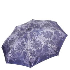 Легкий женский зонт сиреневого цвета с красивым узором от Fabretti, арт. S-17110-6