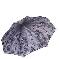 Легкий женский зонт сиреневого цвета с красивым рисунком от Fabretti, арт. S-17110-8