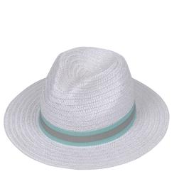 Шляпа от итальянского бренда белого цвета от Fabretti, арт. V6-4 WHITE