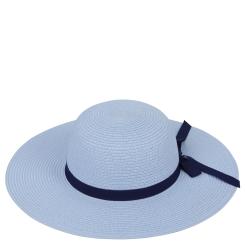 Стильная шляпа от итальянского бренда голубого цвета от Fabretti, арт. V8-5 LIGHT BLUE