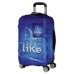 Чехол для большого чемодана, из полиэстера, синего цвета от Fabretti, арт. B2112-L