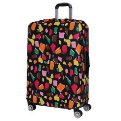 Чехол для большого чемодана, из полиэстера, черного цвета, с разноцветным принтом от Fabretti, арт. B2115-L