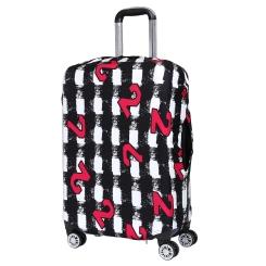 Чехол для большого чемодана, из полиэстера, серого цвета, с необычным принтом от Fabretti, арт. B2120-L