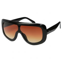 Круглые женские солнцезащитные очки с необычным градиентным стеклом от Fabretti, арт. F39183520-2G