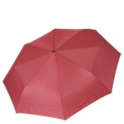 Легкий женский зонт автомат в три сложения, красного цвета от Fabretti, арт. FCH-14