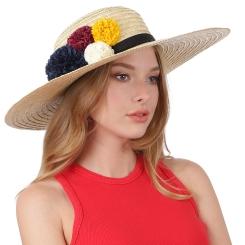 Летняя женская шляпа, бежевого цвета, из натуральной соломки от Fabretti, арт. GL68-1 beige