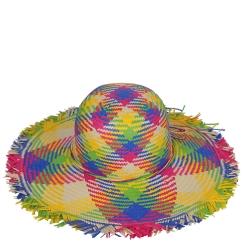 Летняя женская шляпа, из цветной целлюлозы, с утягивающей лентой от Fabretti, арт. GL86-11 multicolor