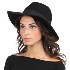 Теплая женская шляпа, черного цвета, с высокой тульей от Fabretti, арт. HW175-black