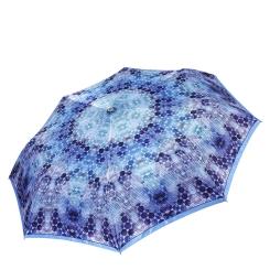 Легкий женский зонт автомат с принтом, голубого цвета от Fabretti, арт. L-17101-3