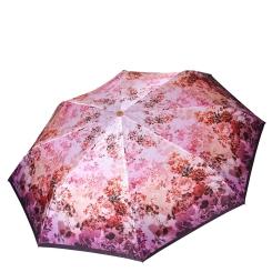 Легкий женский зонт автомат, с принтом, розового цвета от Fabretti, арт. L-18116-2