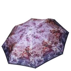Легкий женский зонт автомат, с принтом, фиолетового цвета от Fabretti, арт. L-18117-4