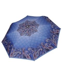 Облегченный женский зонт автомат с принтом, синего цвета от Fabretti, арт. L-19117-1