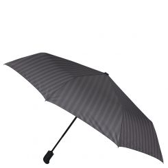 Облегченный мужской зонт автомат, с принтом в полоску, черного цвета от Fabretti, арт. MCH-13