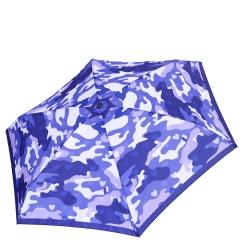 Женский зонт автомат в синей цветовой гамме с красивым притом от Fabretti, арт. MX-18101-6