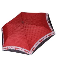 Облегченный механический женский зонт, с принтом, красного цвета от Fabretti, арт. MX-19100-10