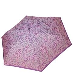 Облегченный розовый механический женский зонт с цветочным принтом от Fabretti, арт. MX-19100-12