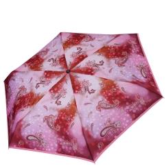 Механический женский зонт в пять сложений, с принтом, красного цвета от Fabretti, арт. MX-19101-12