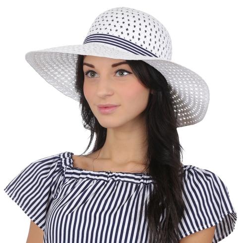 Летняя шляпа Fabretti V23-4 white