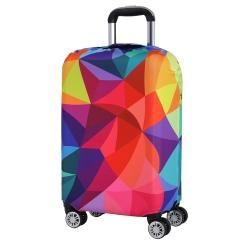 Чехол для большого чемодана из полиэстера красного цвета, с ярким принтом от Fabretti, арт. W1001-L